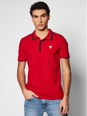 Guess Guess Тениска с яка и копчета M1RP60 K7O61 Червен Slim Fit