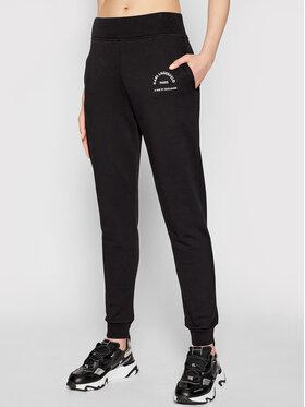 KARL LAGERFELD KARL LAGERFELD Teplákové kalhoty Address Logo 210W1070 Černá Relaxed Fit