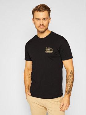 Lee Lee T-Shirt Ss 70s Logo Tee L62NFQ01 Schwarz Regular Fit