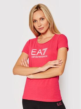 EA7 Emporio Armani EA7 Emporio Armani T-shirt 8NTT63 TJ12Z 0411 Ružičasta Slim Fit