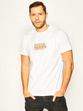 Diesel Diesel T-shirt Just 00ST5I 0HAXV Bianco Regular Fit