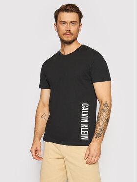 Calvin Klein Swimwear Calvin Klein Swimwear T-Shirt Crew Tee KM0KM00604 Czarny Relaxed Fit