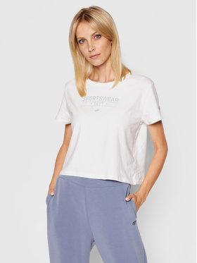 4F 4F T-Shirt H4L21-TSD013 Biały Regular Fit