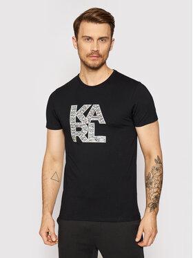 KARL LAGERFELD KARL LAGERFELD T-shirt Library KL21MTS01 Crna Regular Fit