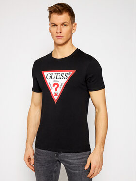 Guess Guess T-shirt M1RI71 I3Z11 Noir Slim Fit