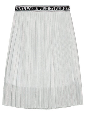 KARL LAGERFELD KARL LAGERFELD Φούστα Z13070 D Ασημί Regular Fit