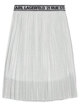 KARL LAGERFELD KARL LAGERFELD Sukně Z13070 D Stříbrná Regular Fit