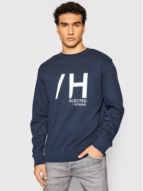Selected Homme Selected Homme Суитшърт Madrid 16082914 Тъмносин Regular Fit