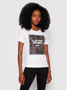 Vans Vans T-shirt Boxed In Rose Crew VN0A5I7Q Blanc Regular Fit
