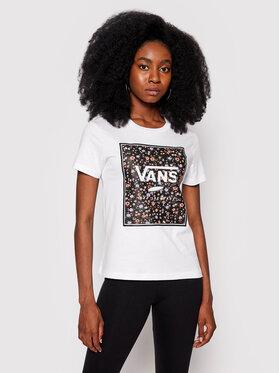 Vans Vans T-Shirt Boxed In Rose Crew VN0A5I7Q Weiß Regular Fit