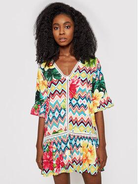 Desigual Desigual Sukienka letnia Miconos 21SWMW33 Kolorowy Relaxed Fit