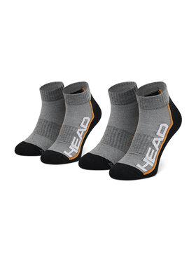 Head Head Sada 2 párů nízkých ponožek unisex Performance Quarter 791019001 Šedá