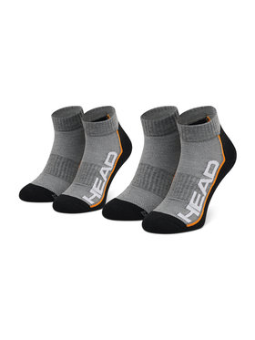 Head Head Set od 2 para unisex niskih čarapa Performance Quarter 791019001 Siva