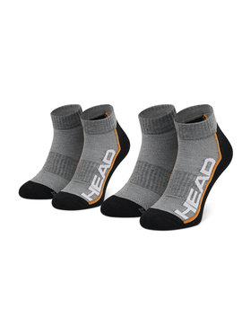 Head Head Súprava 2 párov kotníkových ponožiek unisex Performance Quarter 791019001 Sivá