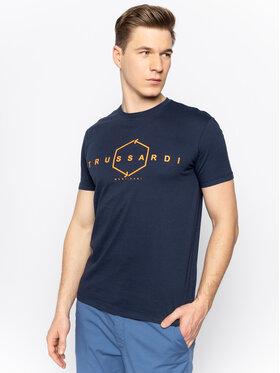 Trussardi Jeans Trussardi Jeans T-Shirt 52T00315 Granatowy Regular Fit