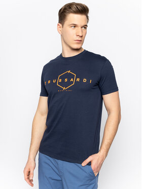 Trussardi Jeans Trussardi Jeans Tricou 52T00315 Bleumarin Regular Fit