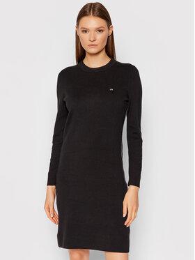 Calvin Klein Calvin Klein Плетена рокля A-Line Logo K20K203229 Черен Slim Fit