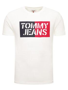 Tommy Jeans Tommy Jeans T-shirt Tjm Box Logo DM0DM07435 Bianco Regular Fit