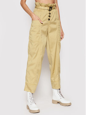 Pinko Pinko Текстилни панталони Botanica 1N137D Y7M5 Бежов Regular Fit