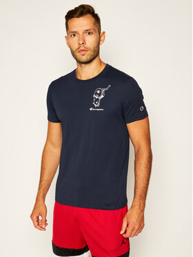 Champion Champion T-Shirt Street Sports Graphic Print 214346 Tmavomodrá Comfort Fit