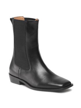 Gino Rossi Gino Rossi Kotníková obuv s elastickým prvkem C012-01 Černá