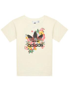 adidas adidas T-Shirt HER Studio London Floral GN4216 Żółty Standard Fit