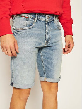 Tommy Jeans Tommy Jeans Дънкови шорти Ronnie DM0DM08287 Син Relaxed Fit