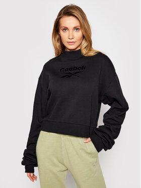 Reebok Reebok Sweatshirt Classics Mock Neck GN4959 Schwarz Loose Fit
