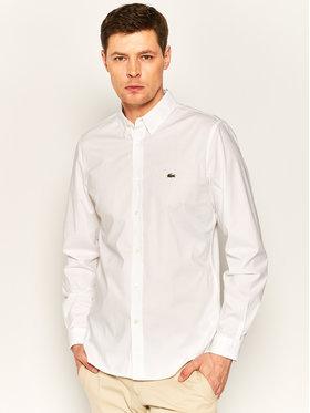 Lacoste Lacoste Πουκάμισο CH7221 Λευκό Slim Fit