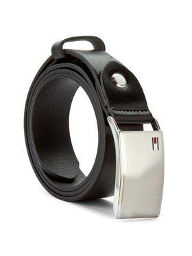 Tommy Hilfiger Tommy Hilfiger Cintura da uomo Th Plaque Belt 3.5 Adj AM0AM01995 Nero