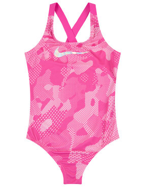 Nike Nike Бански костюм Optic Camo Crossback NESS9616 Розов