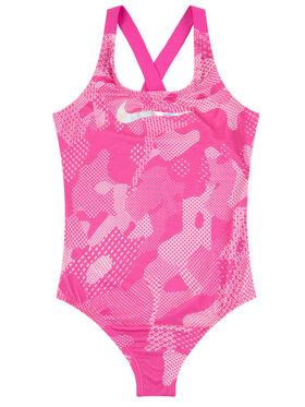 Nike Nike Strój kąpielowy Optic Camo Crossback NESS9616 Różowy