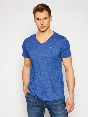 Tommy Jeans Tommy Jeans T-Shirt Jaspe DM0DM09587 Blau Slim Fit
