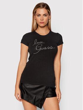 Guess Guess T-shirt Love W1BI38 KAKZ1 Blanc Slim Fit