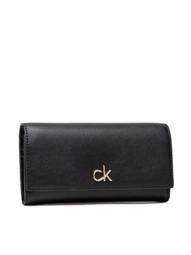 Calvin Klein Calvin Klein Голям дамски портфейл Trifold Lg K60K608199 Черен