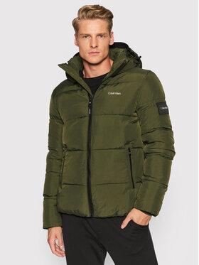 Calvin Klein Calvin Klein Пухено яке Crinkle K10K107485 Зелен Regular Fit
