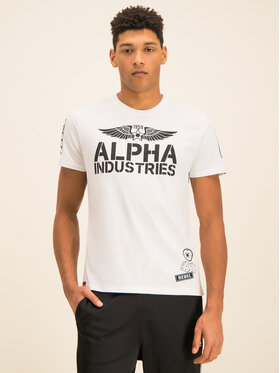 Alpha Industries Alpha Industries T-Shirt Rebel T 196518 Biały Regular Fit