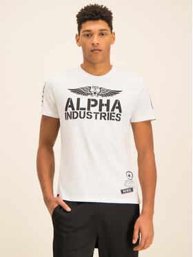 Alpha Industries Alpha Industries T-shirt Rebel T 196518 Blanc Regular Fit