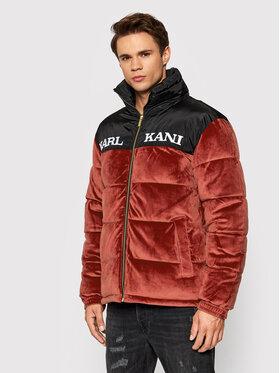 Karl Kani Karl Kani Geacă din puf Retro Velvet Block 6076570 Roșu Regular Fit