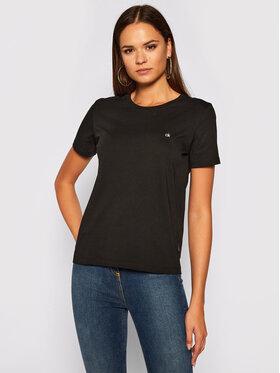 Calvin Klein Calvin Klein Marškinėliai Logo C-Neck K20K202132 Juoda Regular Fit