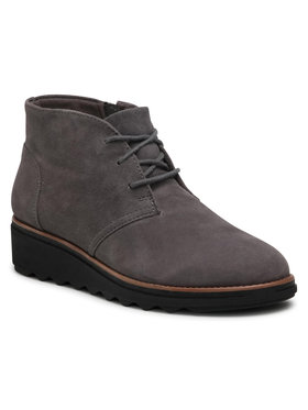 Clarks Clarks Členková obuv Sharon Hop 261388064 Sivá
