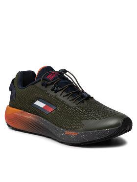 Tommy Hilfiger Tommy Hilfiger Sneakersy Ts Trail 2 FD0FD00024 Zielony