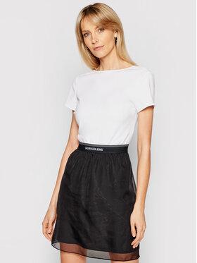 Calvin Klein Jeans Calvin Klein Jeans Každodenní šaty J20J215692 Bílá Slim Fit