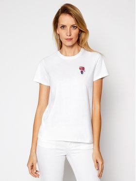KARL LAGERFELD KARL LAGERFELD T-shirt Mini 3 Ikonik Choupette Tee 210W1728 Bijela Regular Fit