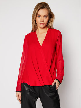 DKNY DKNY Chemisier P0JA6CMH Rouge Regular Fit