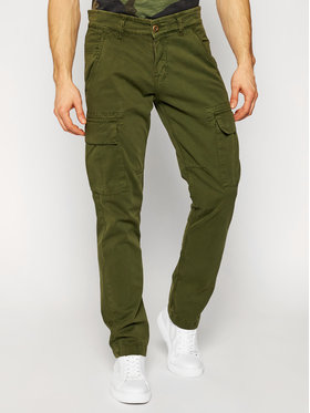 Alpha Industries Alpha Industries Pantaloni din material Agent 158205 Verde Regular Fit