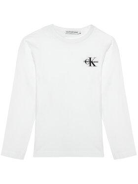 Calvin Klein Jeans Calvin Klein Jeans Μπλουζάκι Monogram IB0IB00613 Λευκό Regular Fit