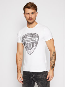 Superdry Superdry T-Shirt Lower East Side M1010368A Λευκό Slim Fit