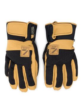 Level Level Lyžiarske rukavice Rover Pk Black 2220UG43 Žltá