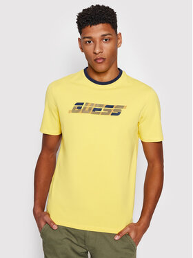 Guess Guess T-shirt U1GA33 J1311 Giallo Regular Fit